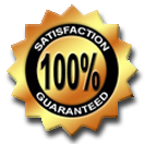 yellow graphic image 100 peercent satisfaction guaranteed