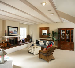 picture of living room used for our boise house cleaning website design